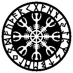 Runen-Magie,-Aegishjalmur,-Unbesiegbarkeit,-Schutz-T-Shirts